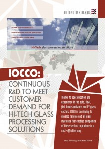 IOCCO continuous R&D in glass industries