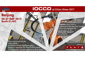 visit IOCCO at China Glass 2017 Beijing BOOT 24-27 MAY 2017