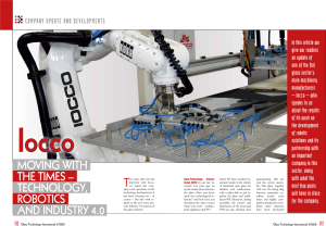 MOVING WITH THE TIMES – TECHNOLOGY, ROBOTICS AND INDUSTRY 4.0 IOCCO