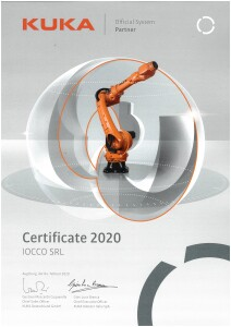 certificate KUKA official systems partner 2020